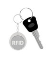 keychain with keytag vector image vector image