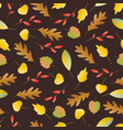seamless pattern with autumn colorful leaves in vector image