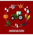 Agriculture flat infographic concept vector image vector image