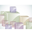 coloured glass cubes in green blue pink and beige vector image