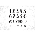 Hand Drawn Script Numbers from 0 to 9 Digits vector image