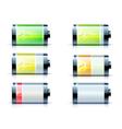 battery level indicators vector image