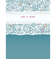 Colorful bubbles vertical torn paper seamless vector image