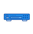 dvd player line icon vector image