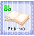 Flashcard B is for book vector image