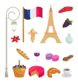 France icons set cartoon style vector image