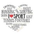 I love sport vector image