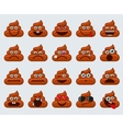 Poop emoticons smileys icons vector image