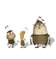 set of funny cartoon bugs vector image