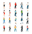 set of isometric people modern young people vector image
