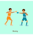 Two boxers on squared ring vector image