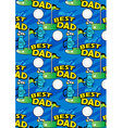 Worlds Best Golf Dad repeating pattern vector image