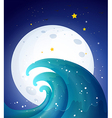 Moonlight and the waves vector image vector image