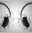 half of headphones with musica vector image