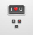 Button Love icon vector image