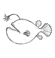 deep-sea fish vector image