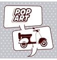 scooter pop art design vector image