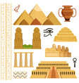 architectural landmark of egypt different vector image