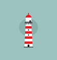 beach lighthouse flat vector image
