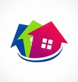 house realty sold logo vector image