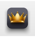 King luxury icon Symbol of Crown on dark backdrop vector image