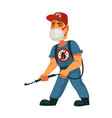 man killing insects vector image