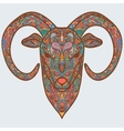 Ornamental head of goat or sheep - a symbol of new vector image
