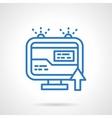 Web information blue simple line icon vector image