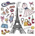 paris france fashion summer setwomangirl colored vector image