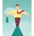 Taking a business risk vector image