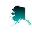 Map of Alaska vector image