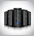 Network servers set vector image
