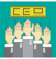 hands up catch business position vector image