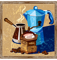 classic coffee old poster vector image