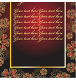 abstract red frame with patterns vector image vector image