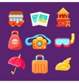 Travelling Related Objects Colorful Simplified vector image