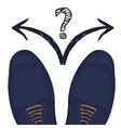 Business concept to make a selection Feet in male vector image