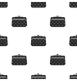 Cosmetic bag icon in black style isolated on white vector image