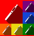 e-cigarette sign set of icons with flat vector image