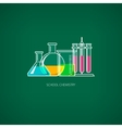 Flasks and BeakersChemical Laboratory Equipment vector image