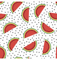 fresh slaced ripe watermelon vector image