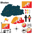 Map of Bhutan vector image