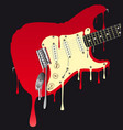 melting electric guitar vector image