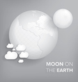 moon on the earth vector image