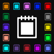 Notepad icon sign Lots of colorful symbols for vector image