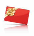 red gift card vector image