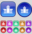 School Professional Icon sign A set of twelve vector image