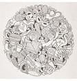 cartoon hand drawn doodle latin american vector image