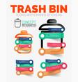 diagram elements set of trash or garbage vector image