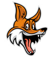 smiling cheerful fox vector image vector image